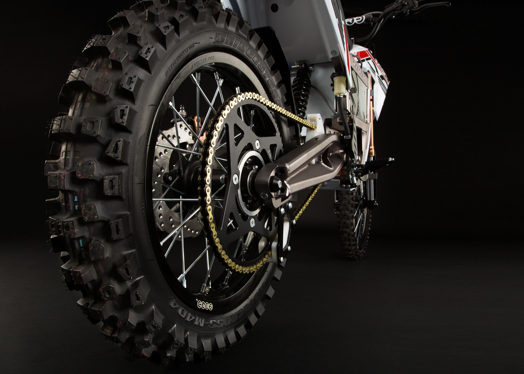'.2012 Zero MX Electric Motorcycle: Back Tire.'