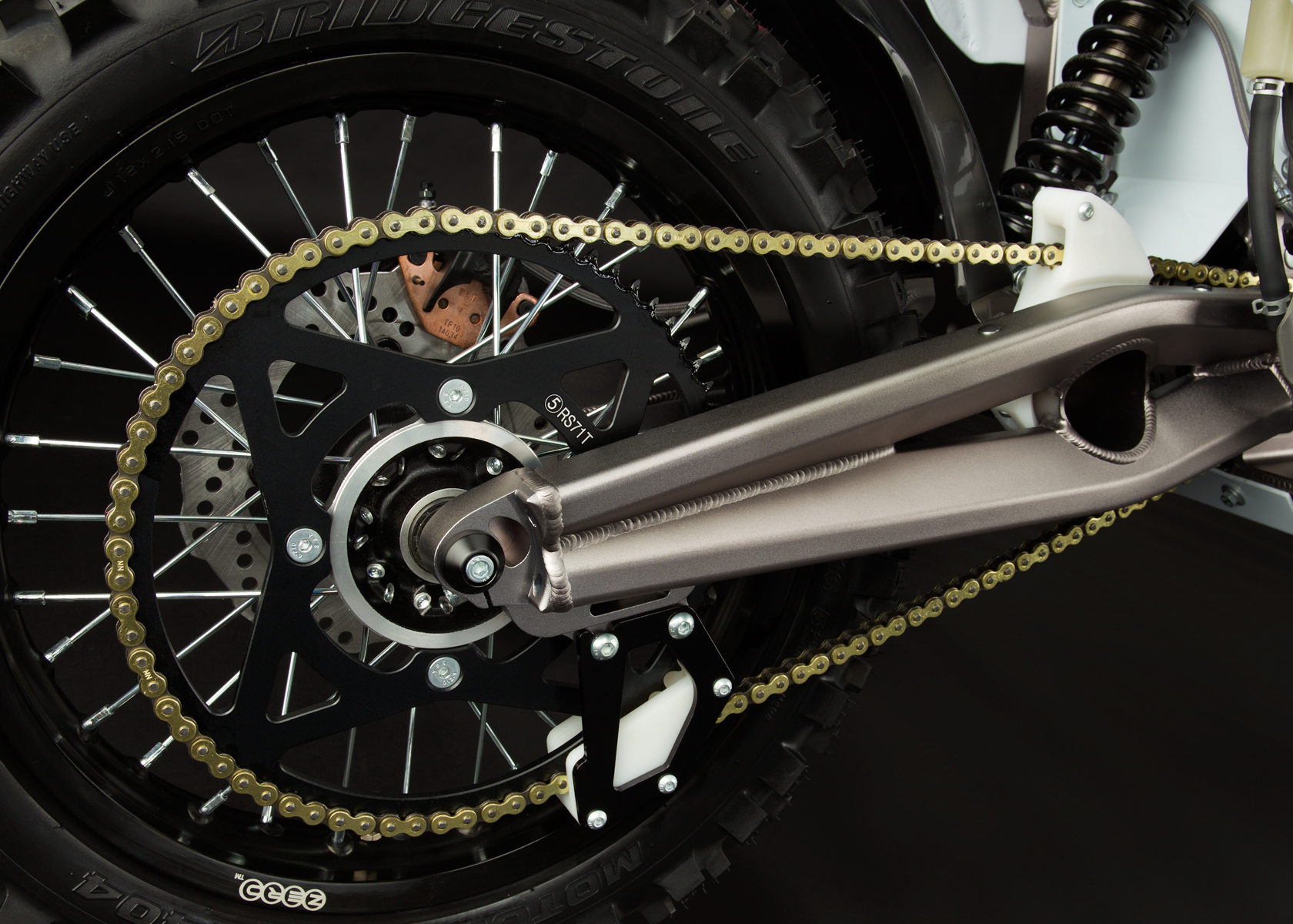 '.2012 Zero MX Electric Motorcycle: Swingarm.'