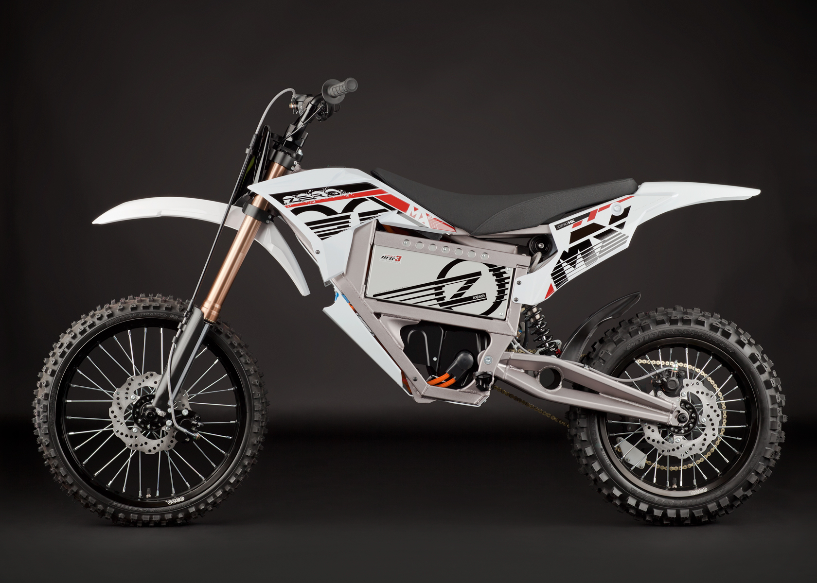 '.2012 Zero MX Electric Motorcycle: Profile Left.'