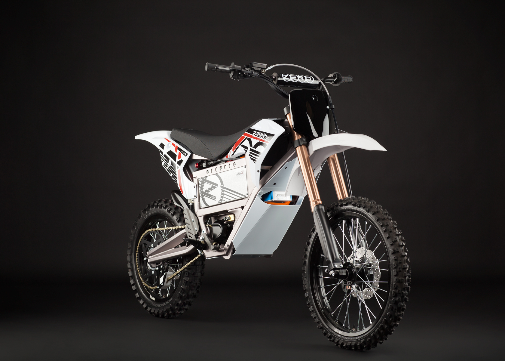 '.2012 Zero MX Electric Motorcycle: Angle Right.'