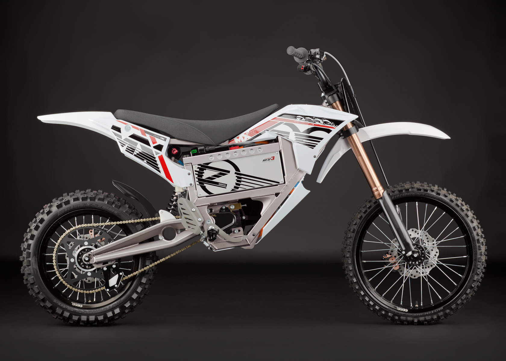 '.2012 Zero MX Electric Motorcycle: Profile Right.'