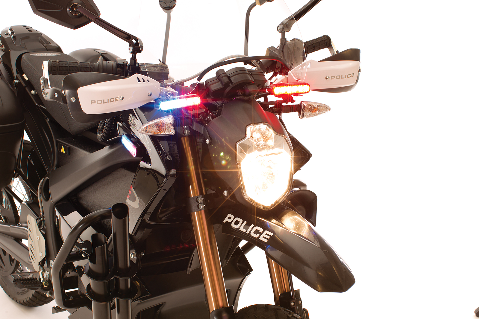 2012 Zero DS Police Motorcycles: Whelen LINZ 6 forward facing LEDs