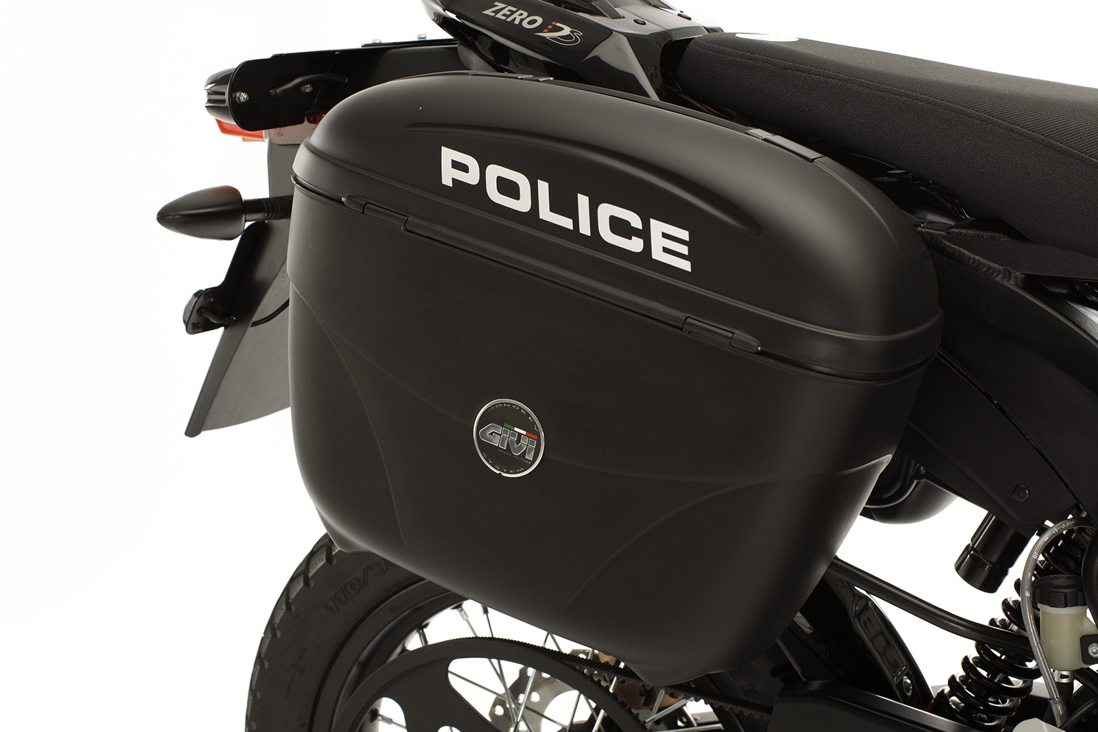 2012 Zero DS Police Motorcycles: Hard Saddle Bags/Mounts