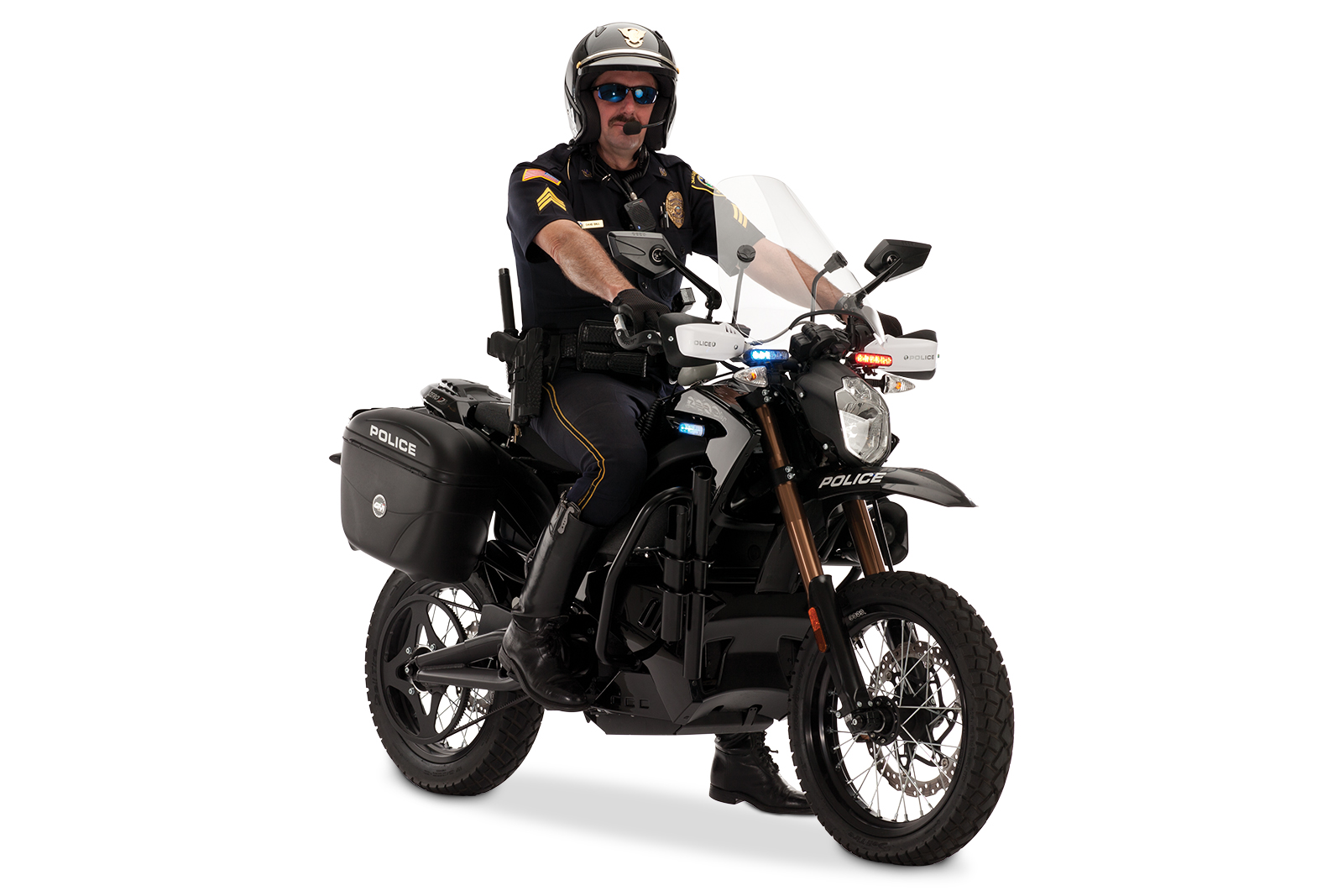 2012 Zero DS Police Motorcycles: Angle Left with Policeman