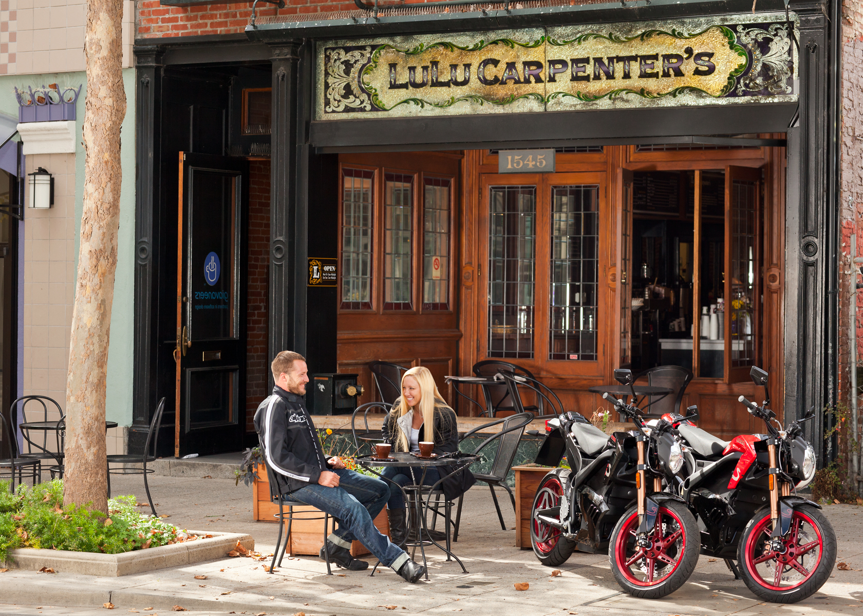 '.2012 Zero Motorcycles: LuLu Carpenter's Cafe, Santa Cruz.'