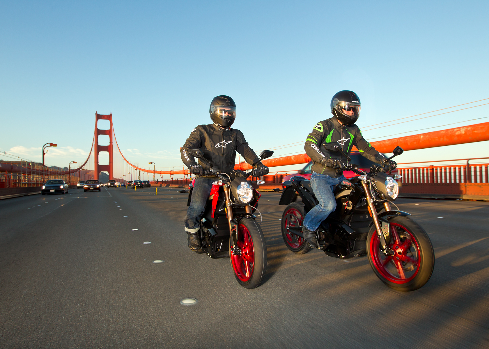 '.2012 Zero S Electric Motorcycle: Golden Gate Bridge.'