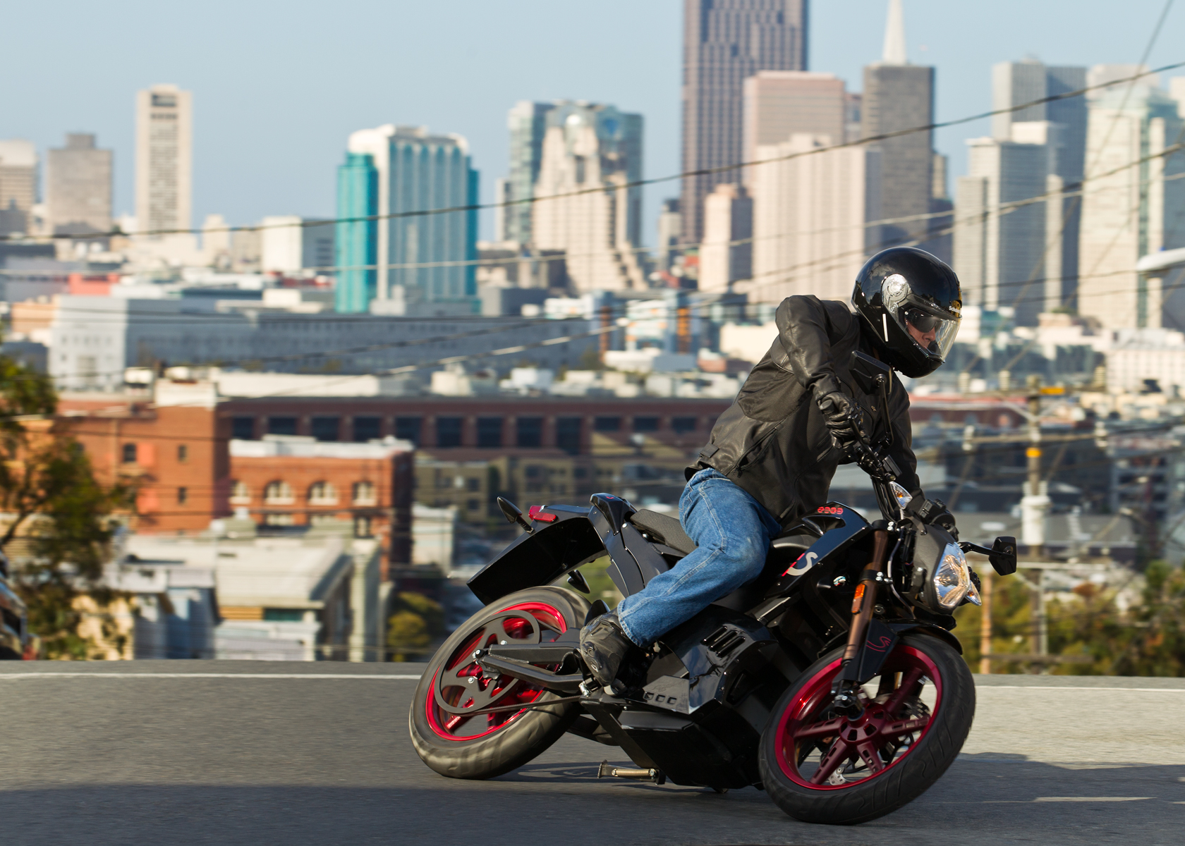 '.2012 Zero S Electric Motorcycle: Cruising in the City.'