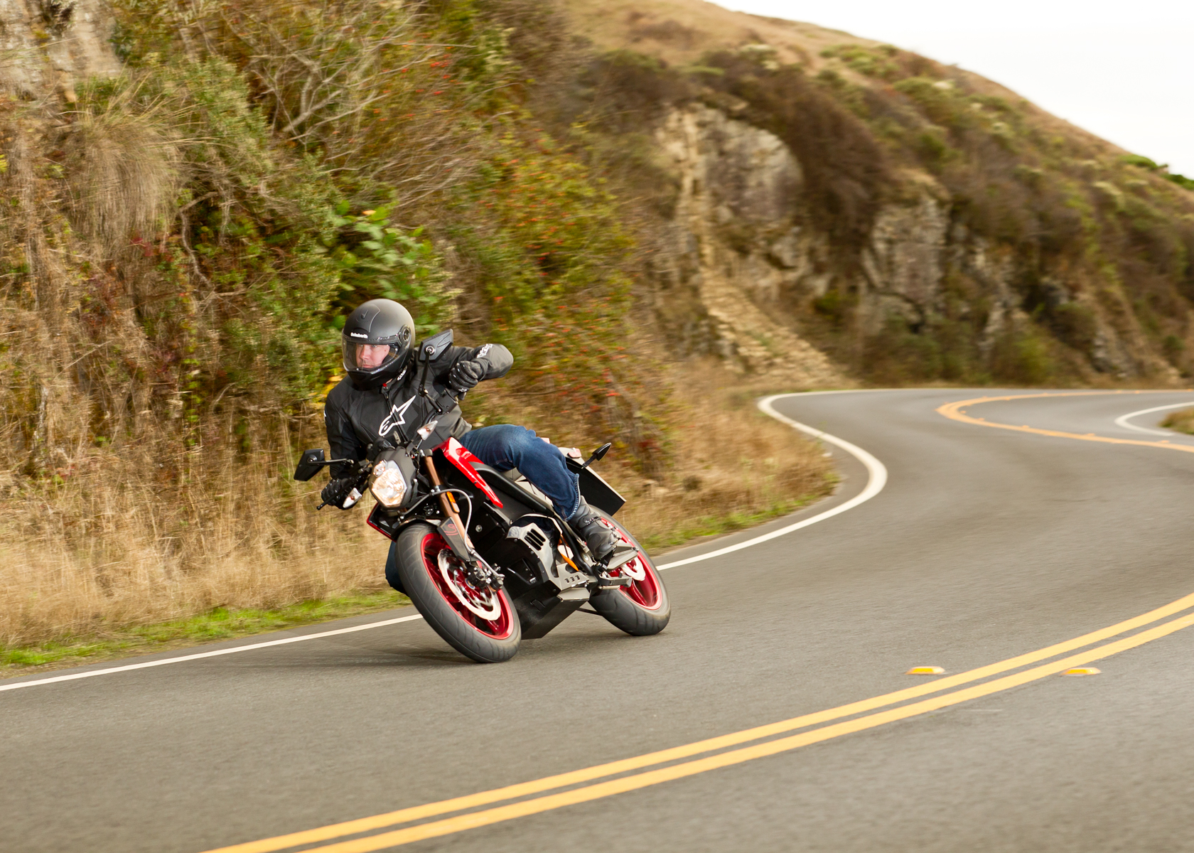 2012 Zero S Electric Motorcycle: Lean Right