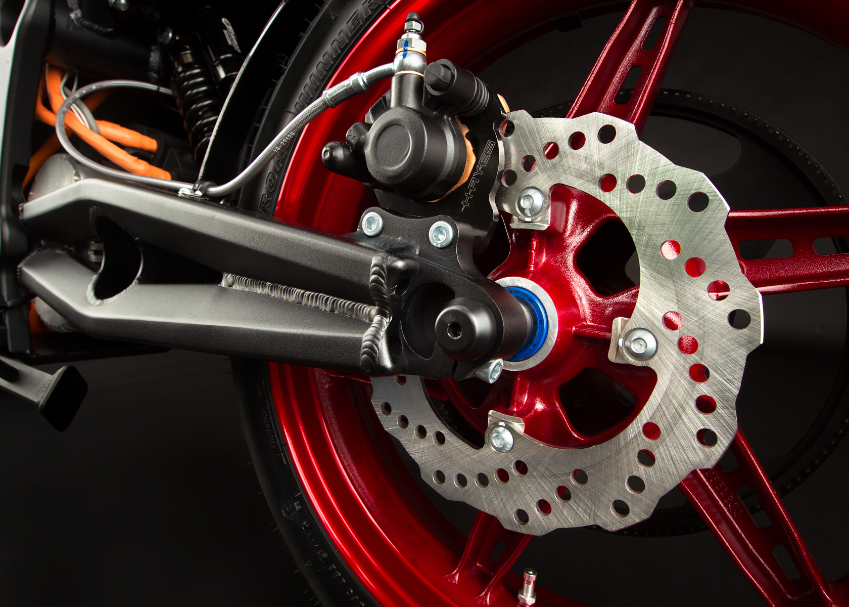 2012 Zero S Electric Motorcycle: Back Brake