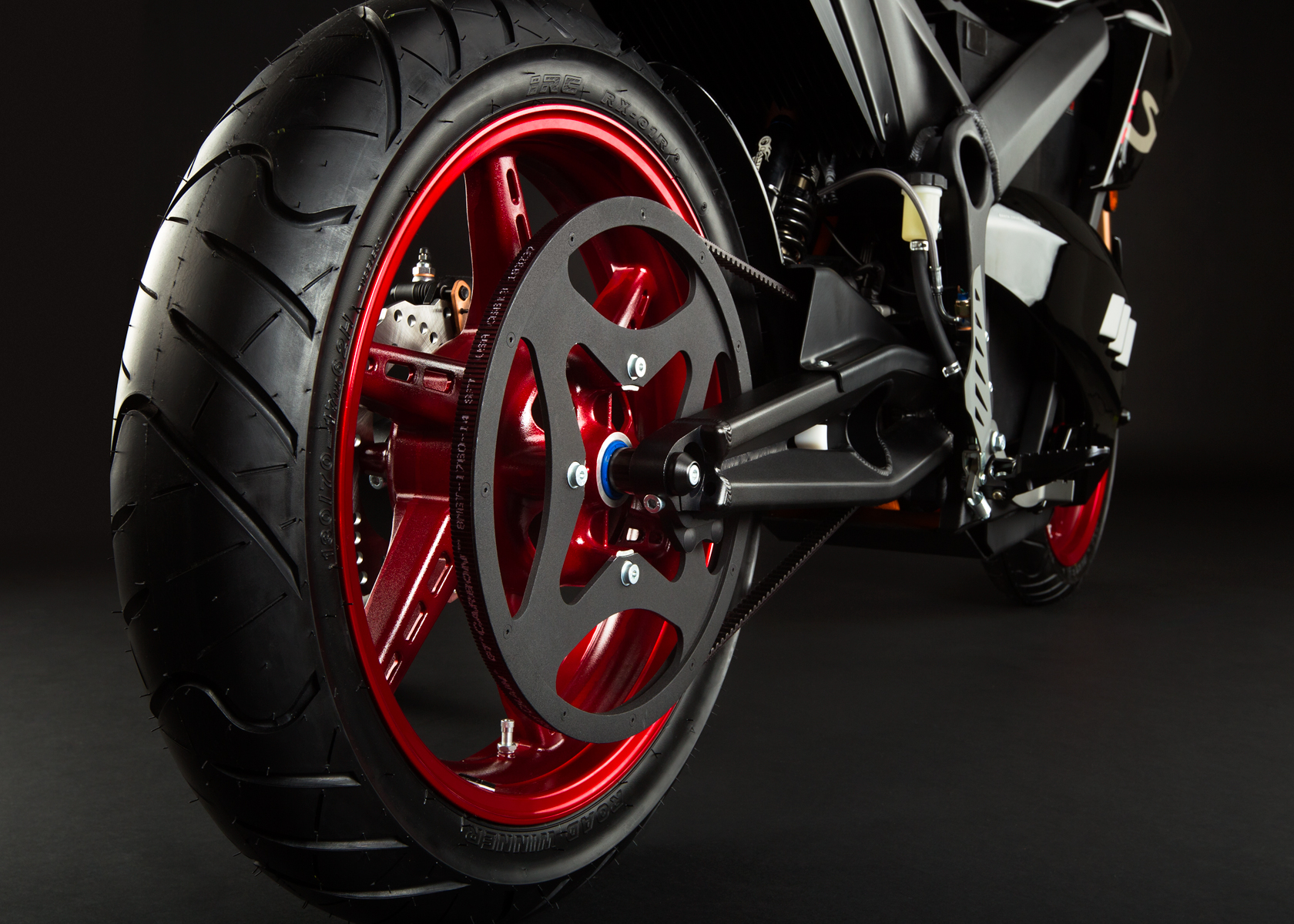 '.2012 Zero S Electric Motorcycle: Drivetrain / Chain / Sprocket.'