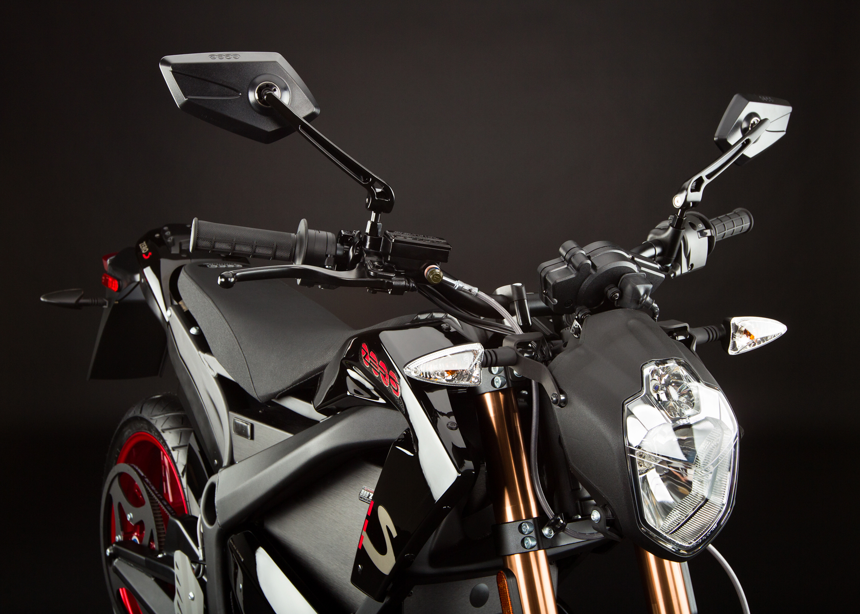 '.2012 Zero S Electric Motorcycle: Headlight.'