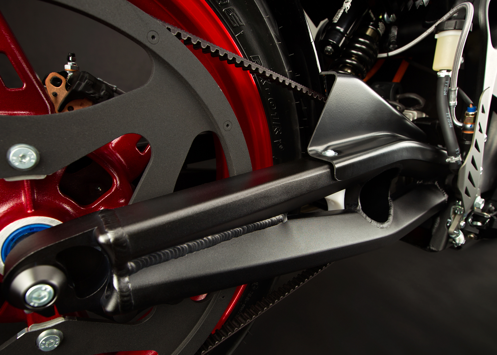 '.2012 Zero S Electric Motorcycle: Swingarm.'