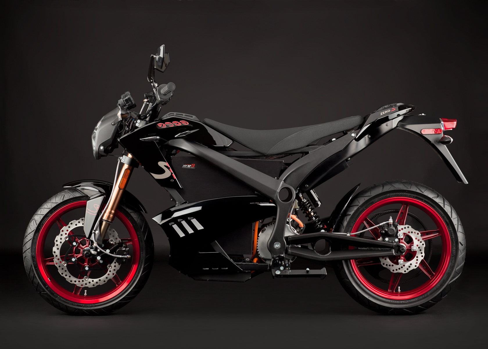 '.2012 Zero S Electric Motorcycle: Profile Left.'
