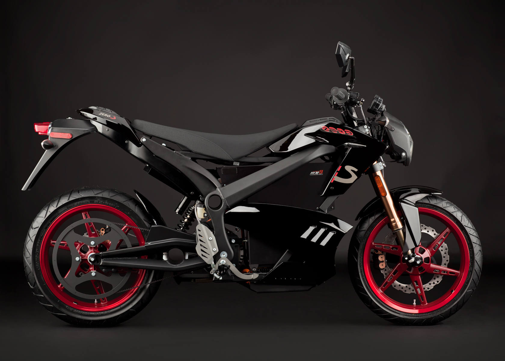 '.2012 Zero S Electric Motorcycle: Profile Right.'
