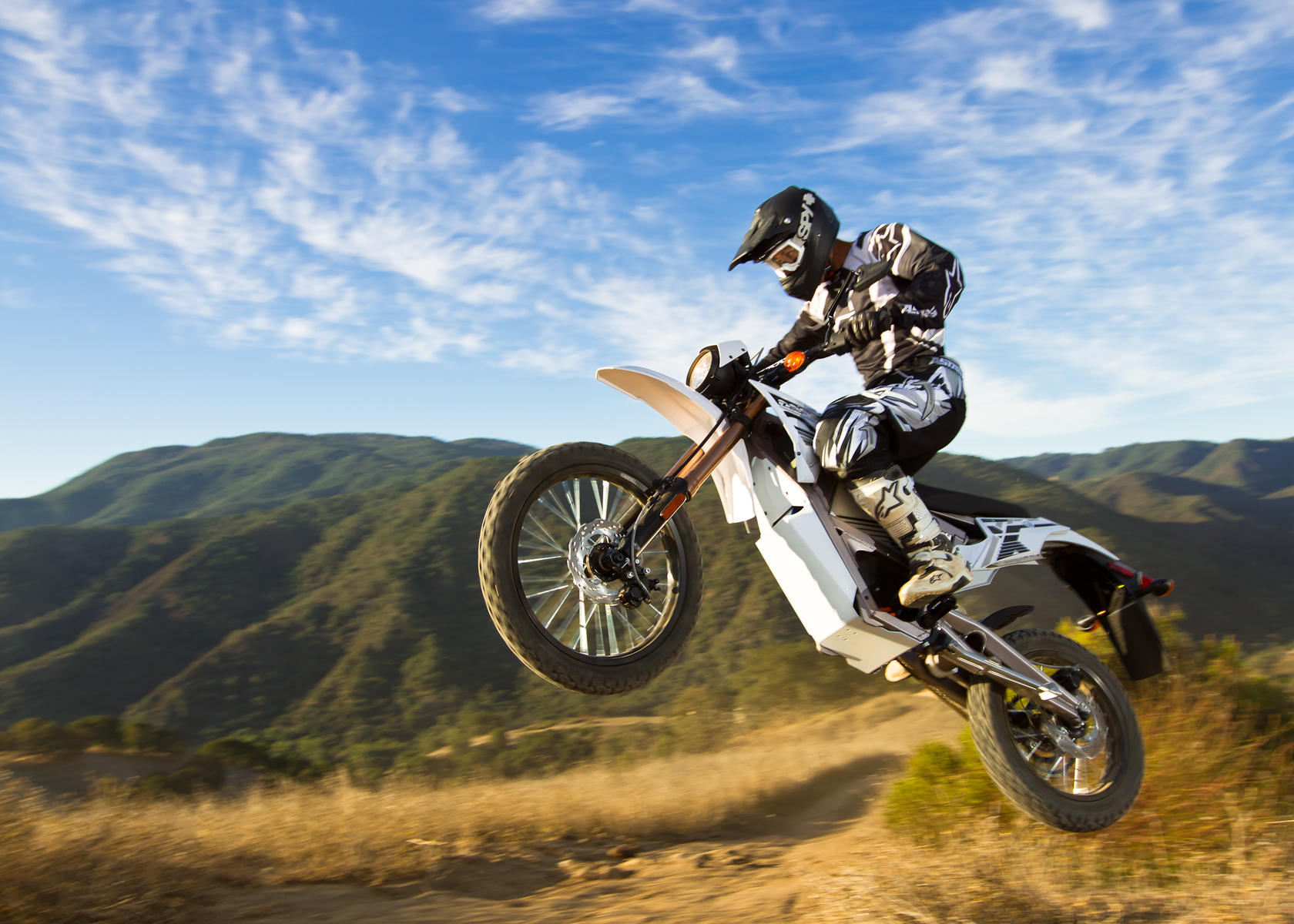 '.2012 Zero X Electric Motorcycle: Jump.'