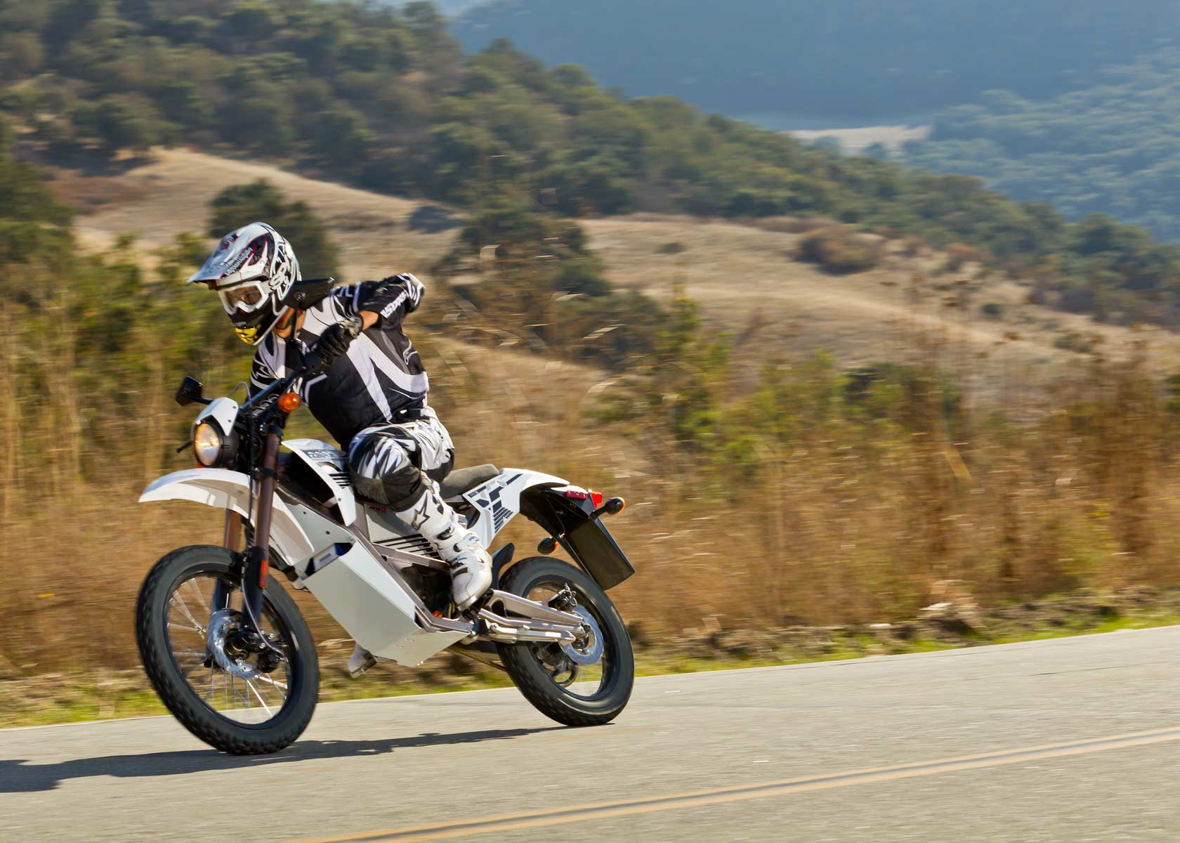 '.2012 Zero X Electric Motorcycle: Cruising.'