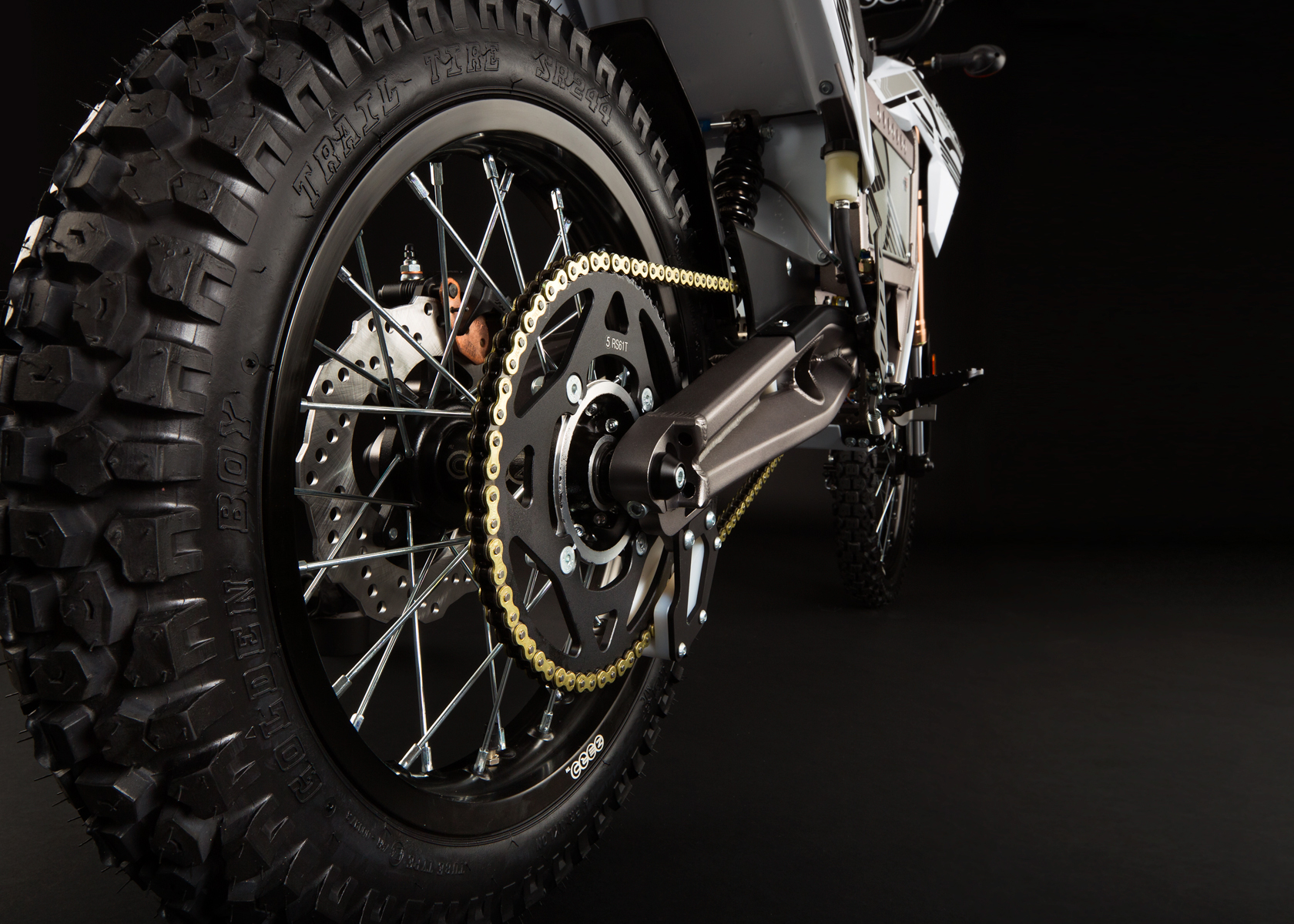 '.2012 Zero X Electric Motorcycle: Back Tire.'