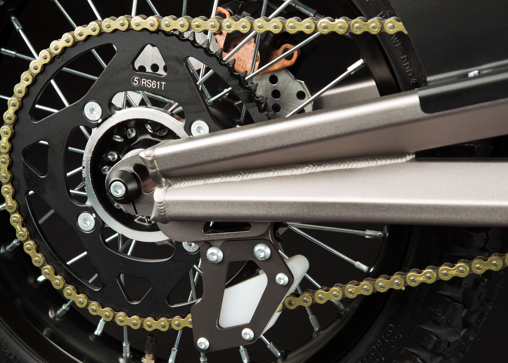 '.2012 Zero X Electric Motorcycle: Drivetrain / Chain / Sprocket.'