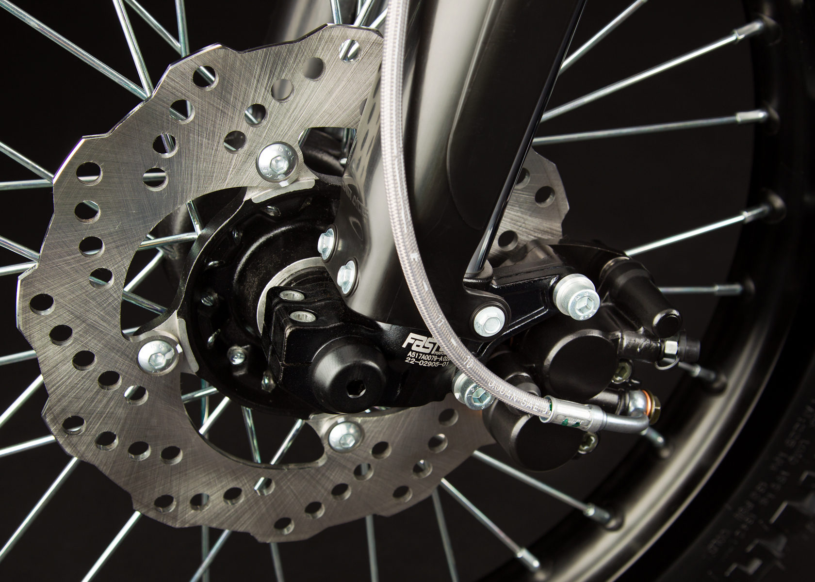 '.2012 Zero X Electric Motorcycle: Front Brake.'
