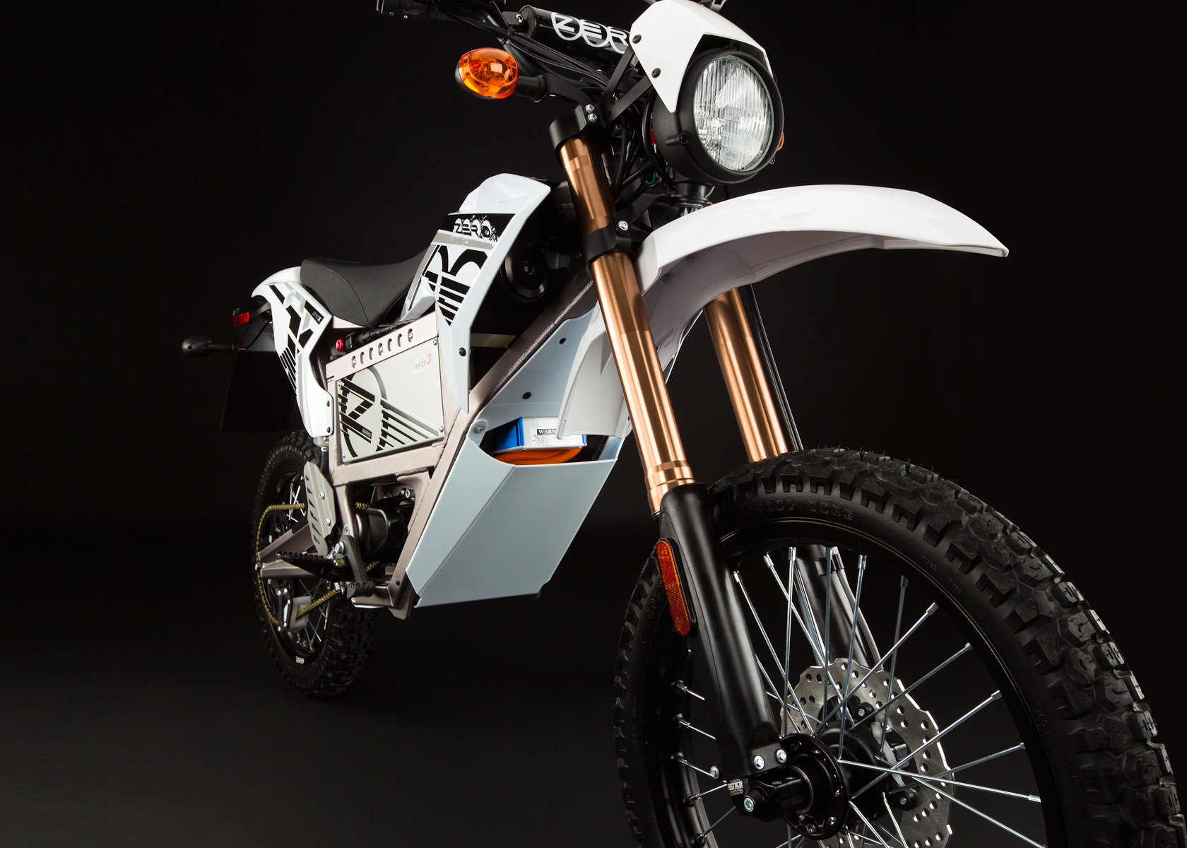 '.2012 Zero X Electric Motorcycle: Front Fork.'