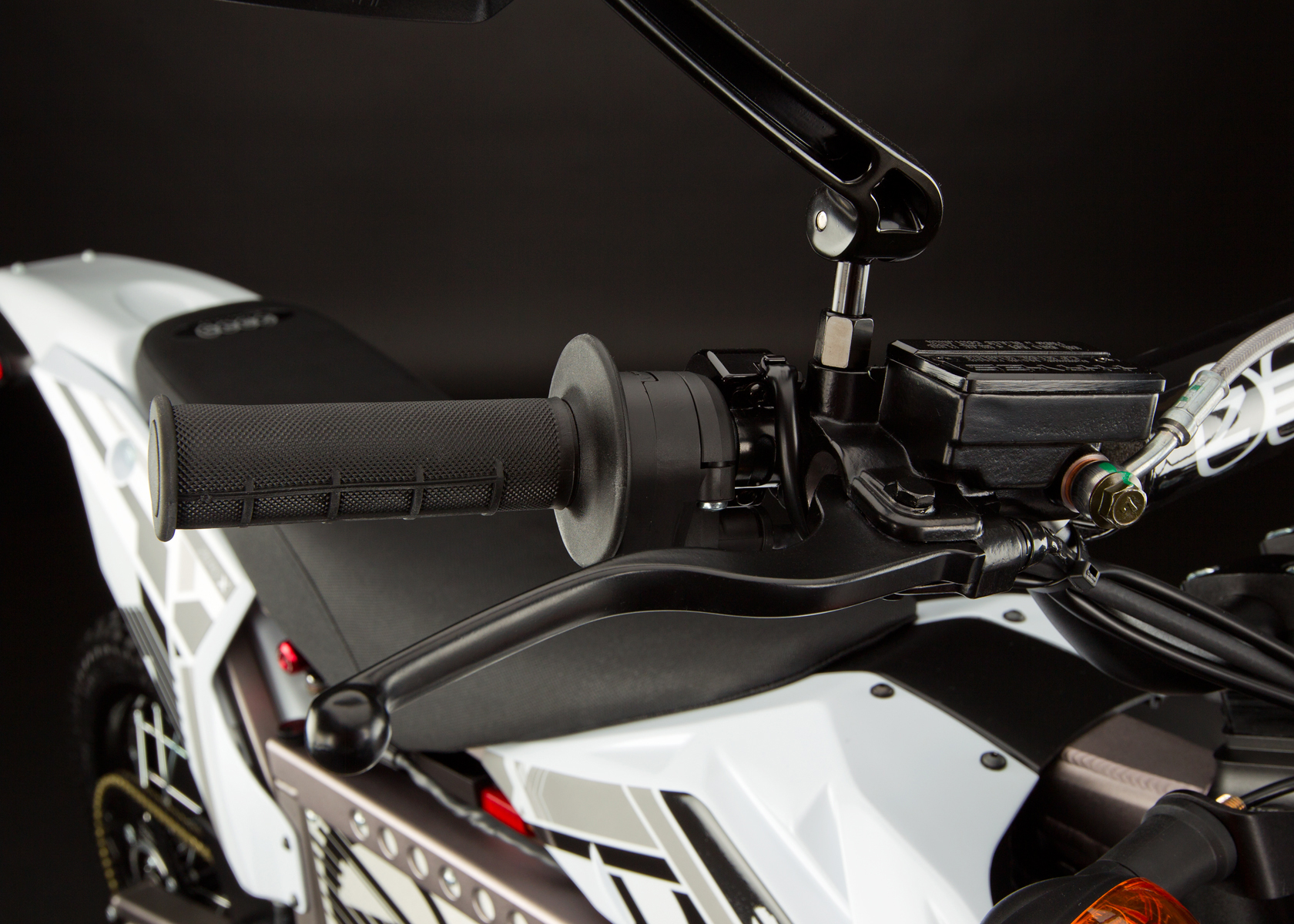 '.2012 Zero X Electric Motorcycle: Hand Brake.'