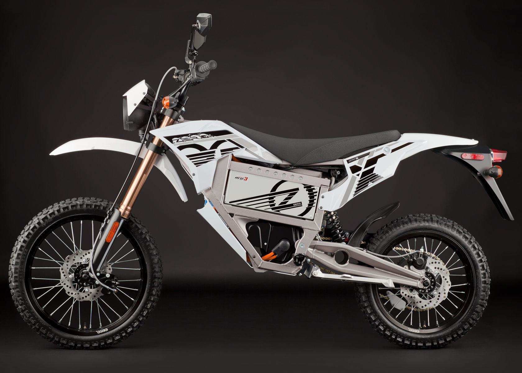 '.2012 Zero X Electric Motorcycle: Profile Left.'