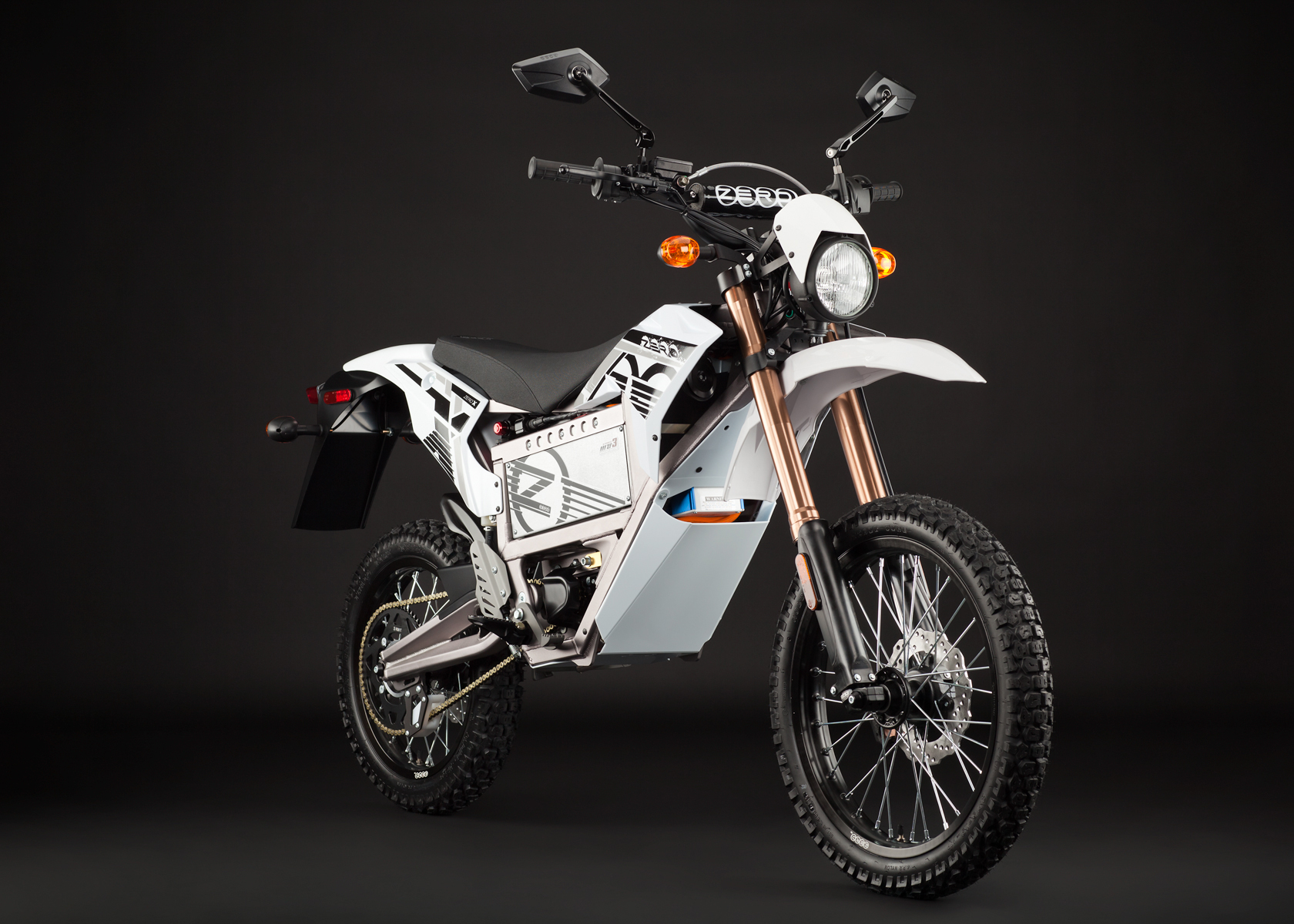 2012 Zero X Electric Motorcycle: Angle Right