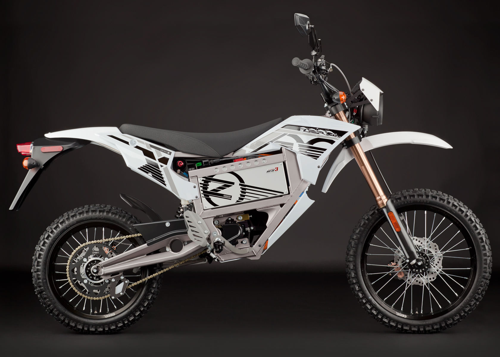 '.2012 Zero X Electric Motorcycle: Profile Right.'