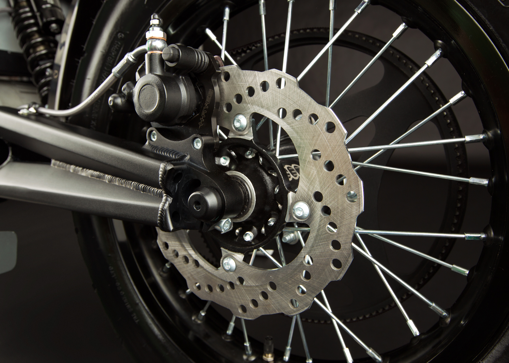 '.2012 Zero XU Electric Motorcycle: Back Brake.'