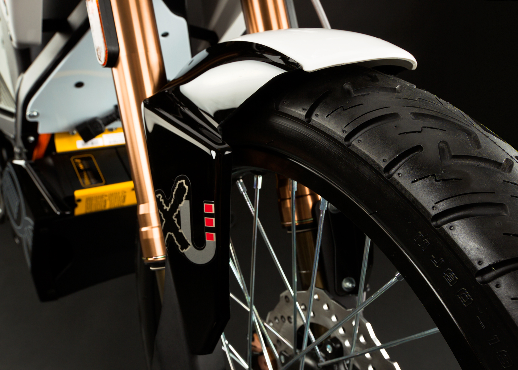 '.2012 Zero XU Electric Motorcycle: Front Fender.'