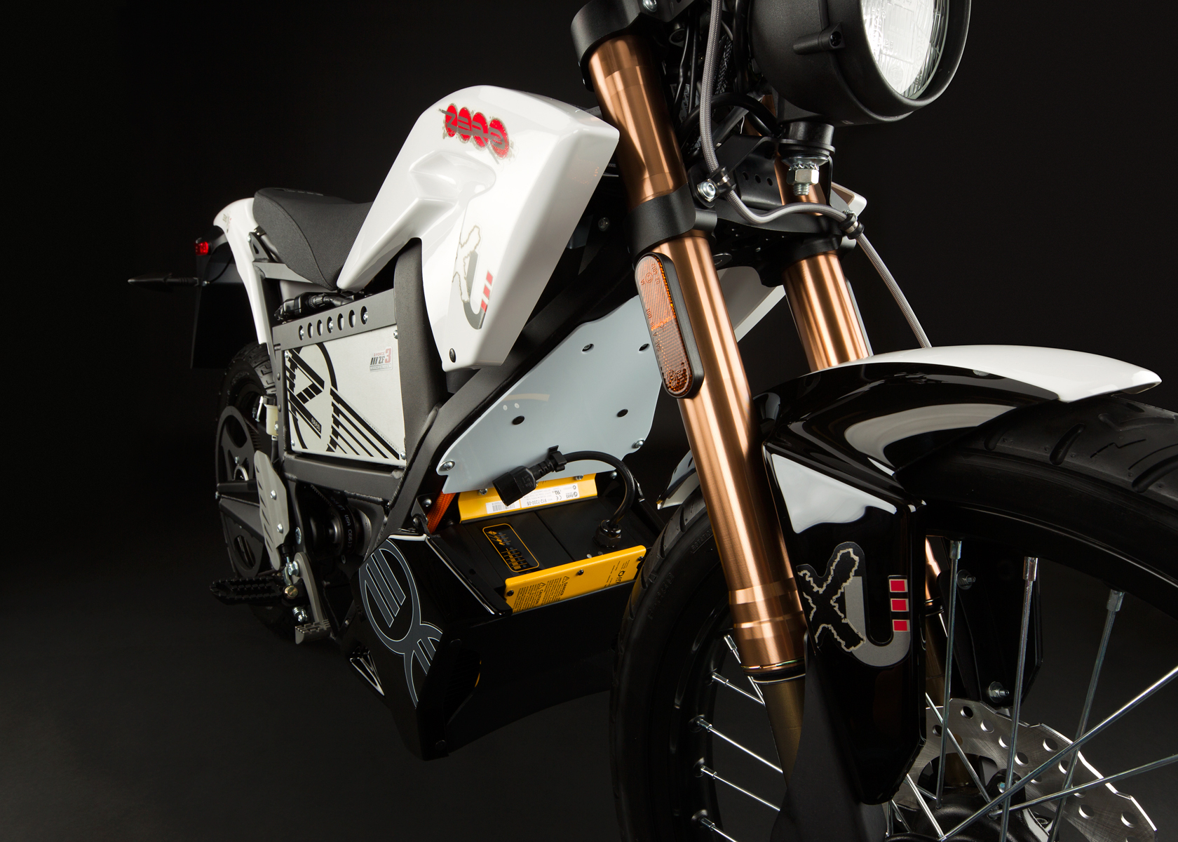 '.2012 Zero XU Electric Motorcycle: Front Fork.'