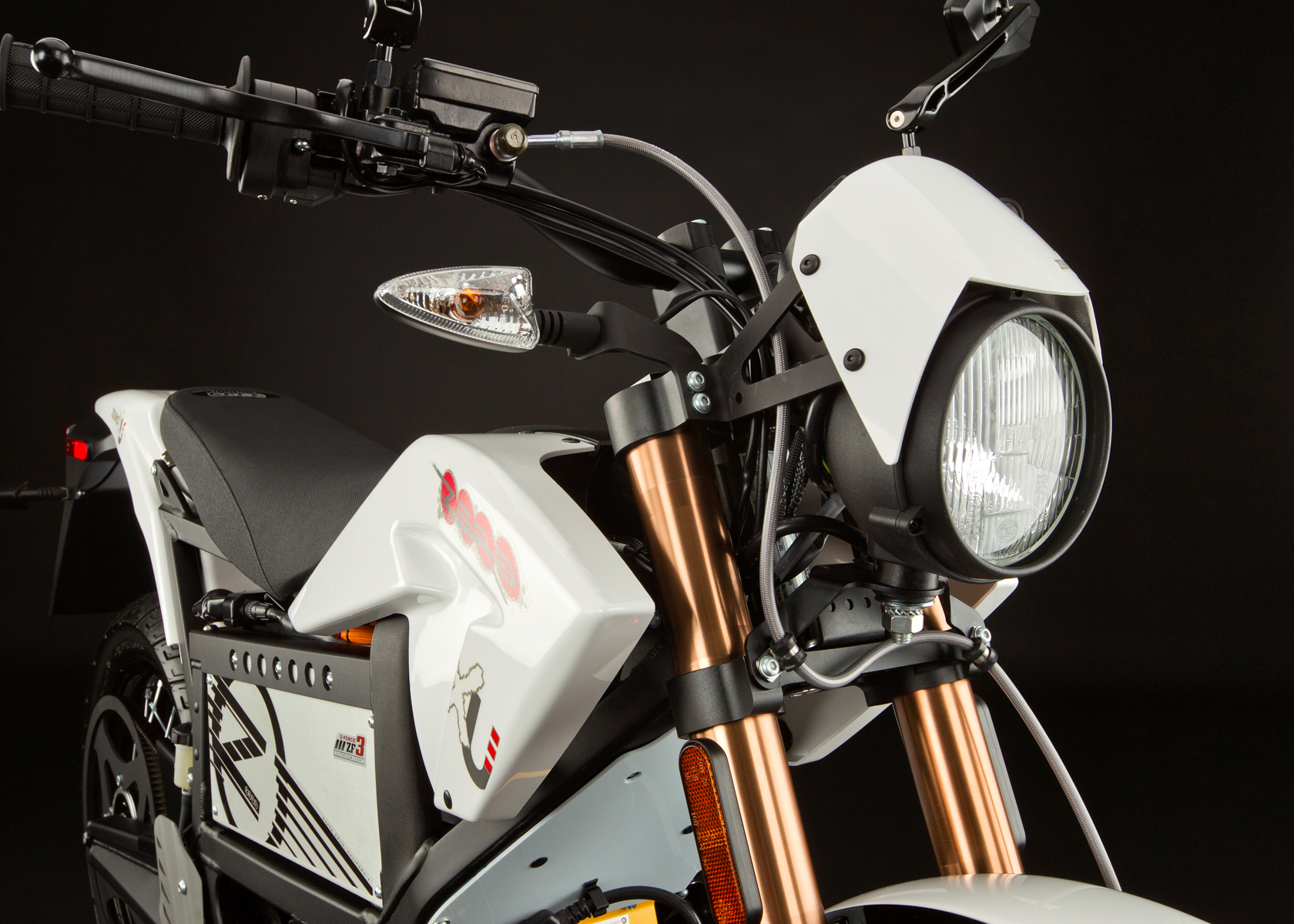 '.2012 Zero XU Electric Motorcycle: Headlight.'