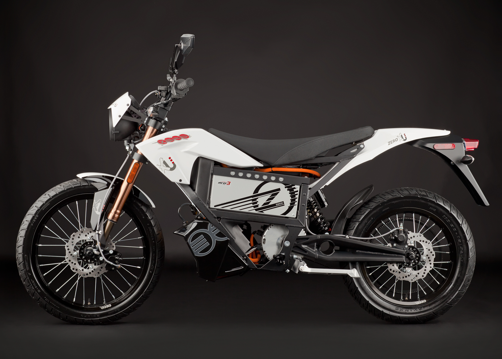 '.2012 Zero XU Electric Motorcycle: Profile Left.'