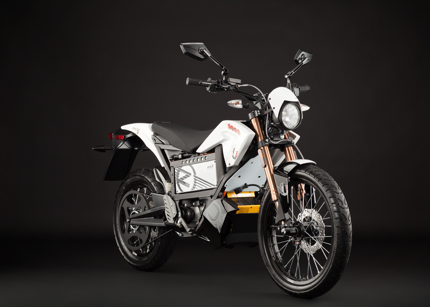 2012 Zero XU Electric Motorcycle: Angle Right