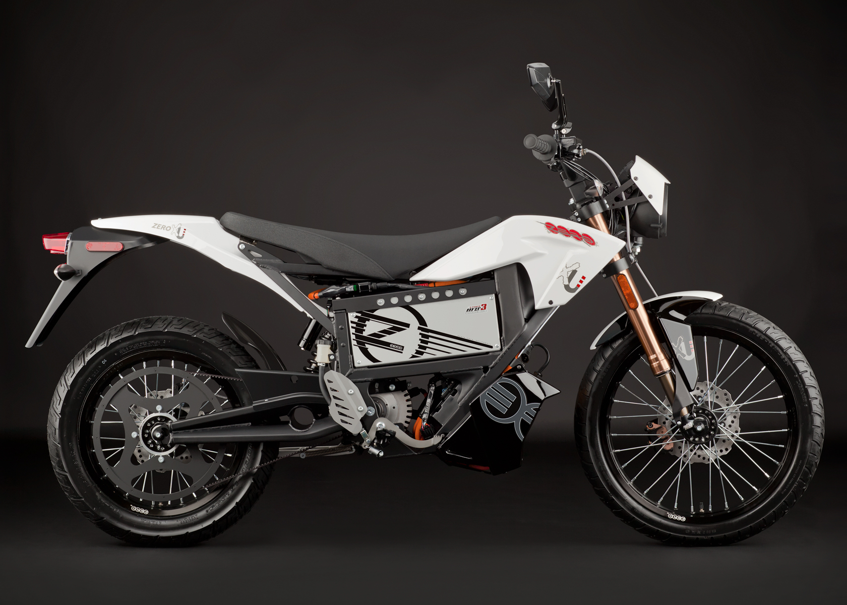 '.2012 Zero XU Electric Motorcycle: Profile Right.'