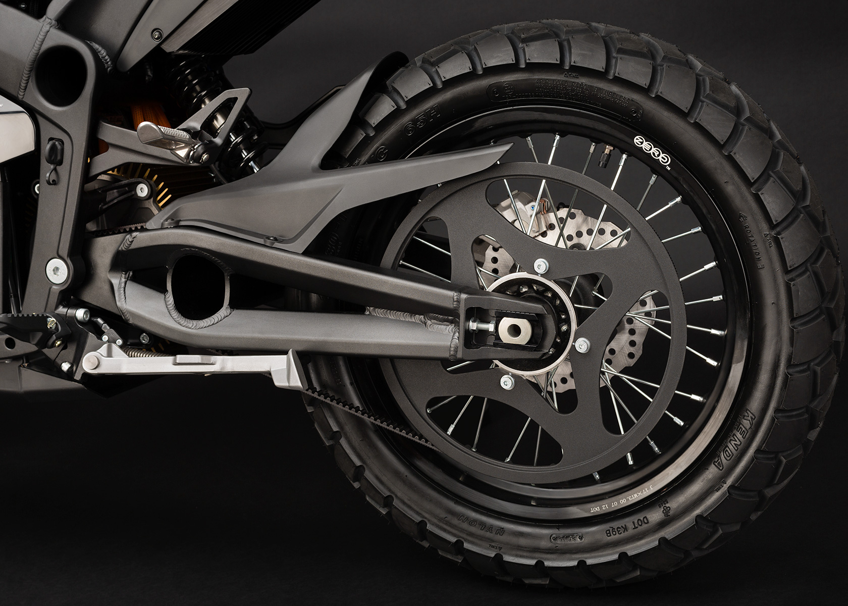 '.2013 Zero DS Electric Motorcycle: Belt Drive.'