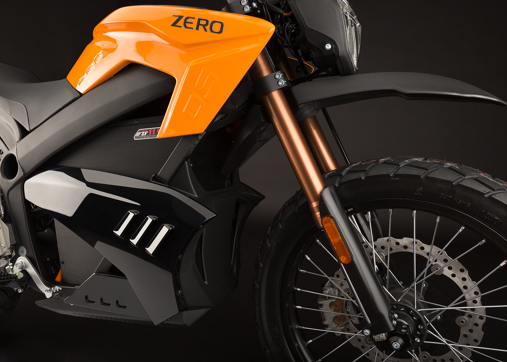 '.2013 Zero DS Electric Motorcycle: Front Fork.'