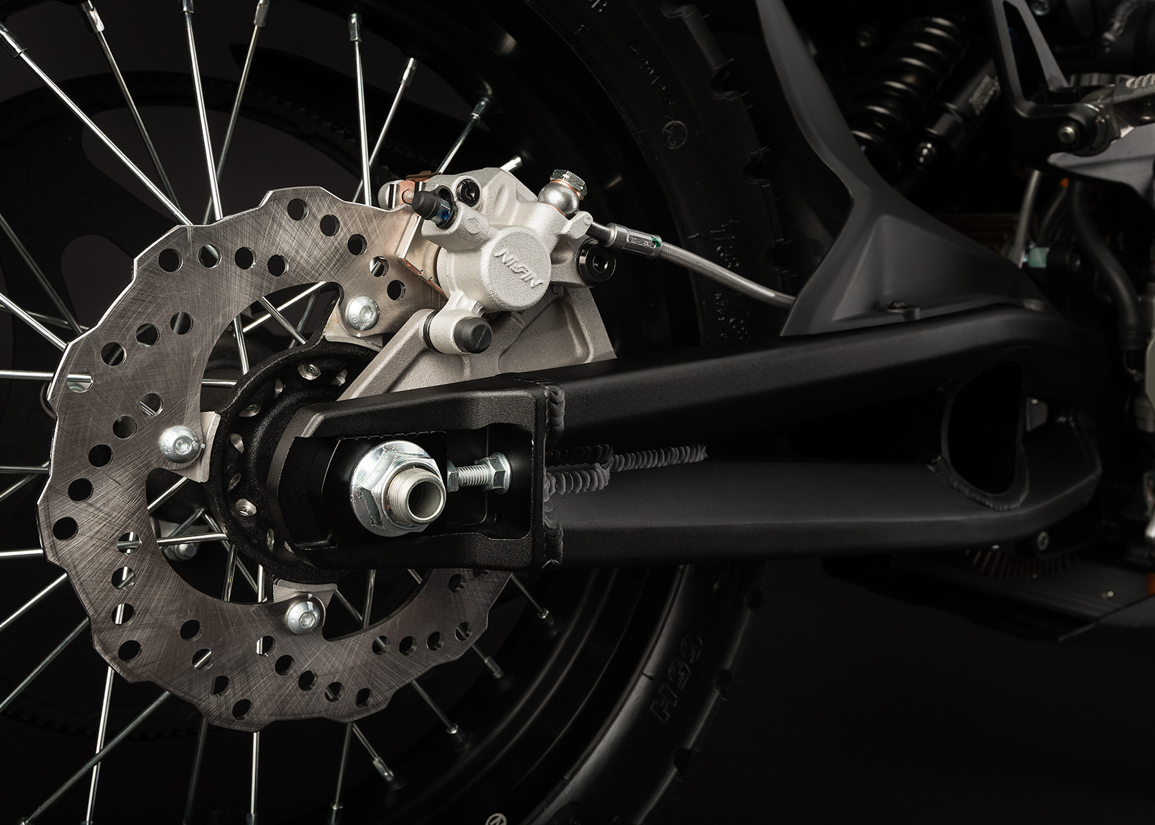 '.2013 Zero DS Electric Motorcycle: Rear Brake.'