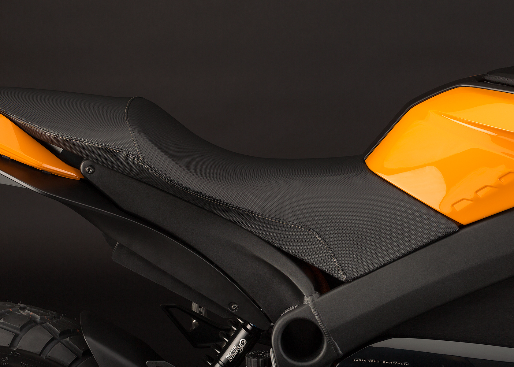 '.2013 Zero DS Electric Motorcycle: Seat.'