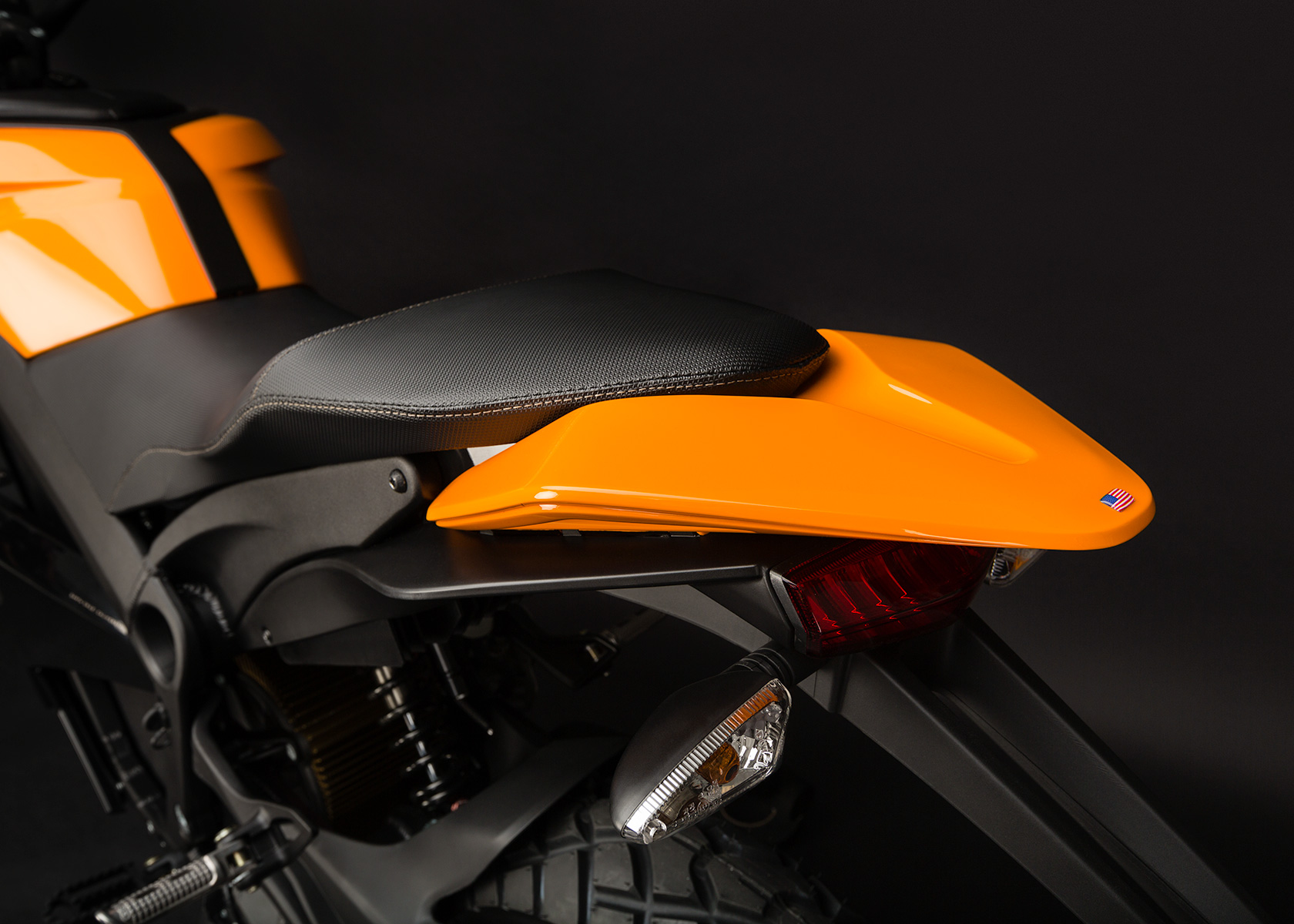 '.2013 Zero DS Electric Motorcycle: Tail.'