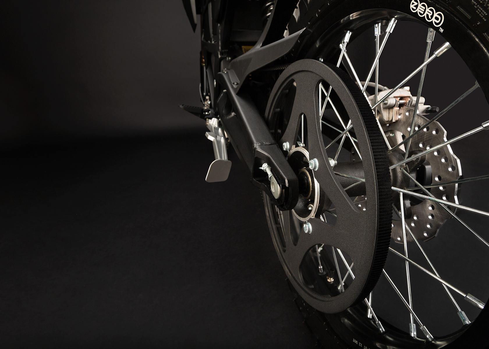 2013 Zero FX Electric Motorcycle: Belt Drive