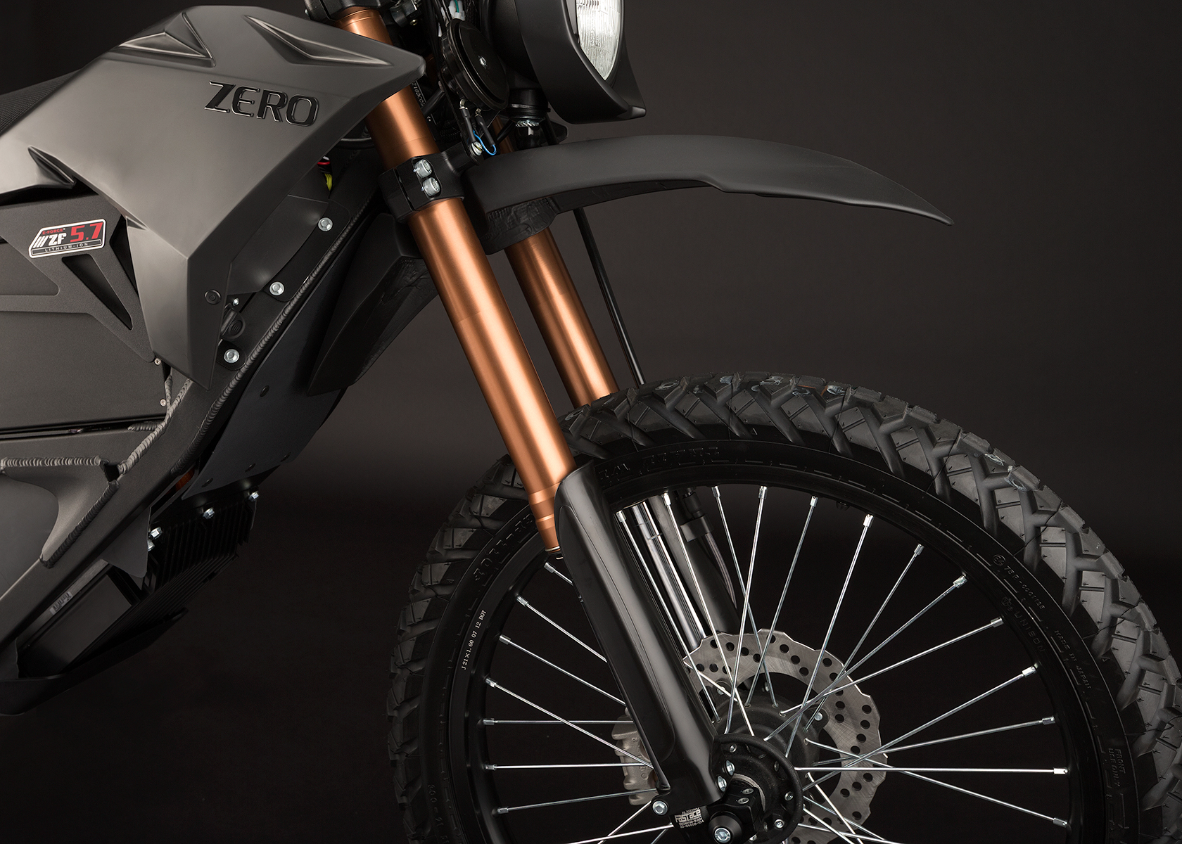 '.2013 Zero FX Electric Motorcycle: Front Fork.'