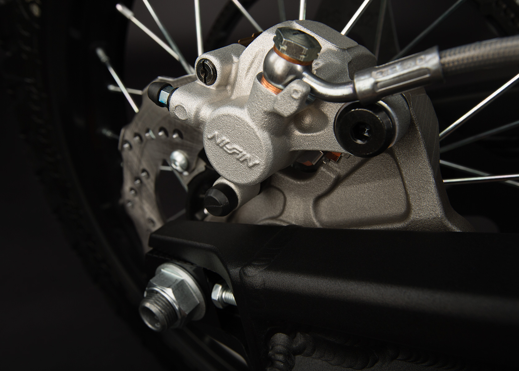 '.2013 Zero FX Electric Motorcycle: Rear Brake.'