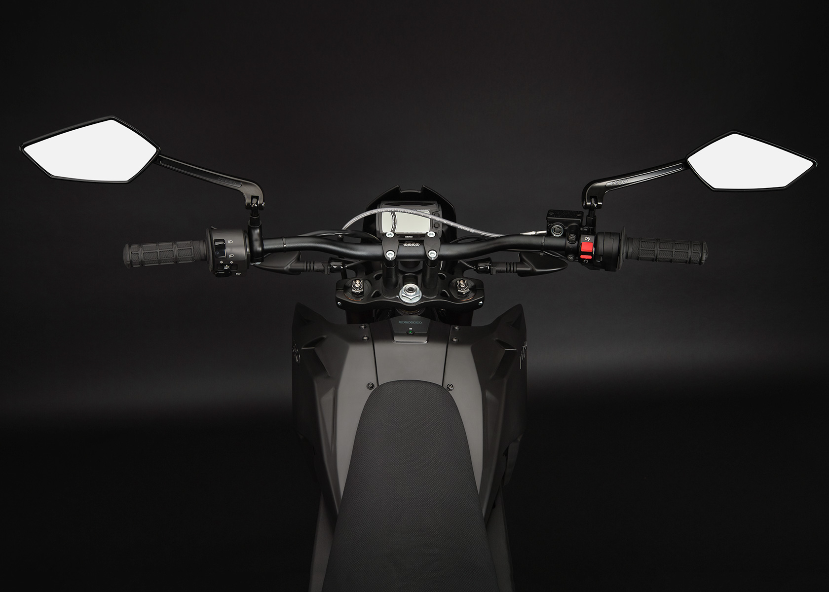 '.2013 Zero FX Electric Motorcycle: Rider View.'