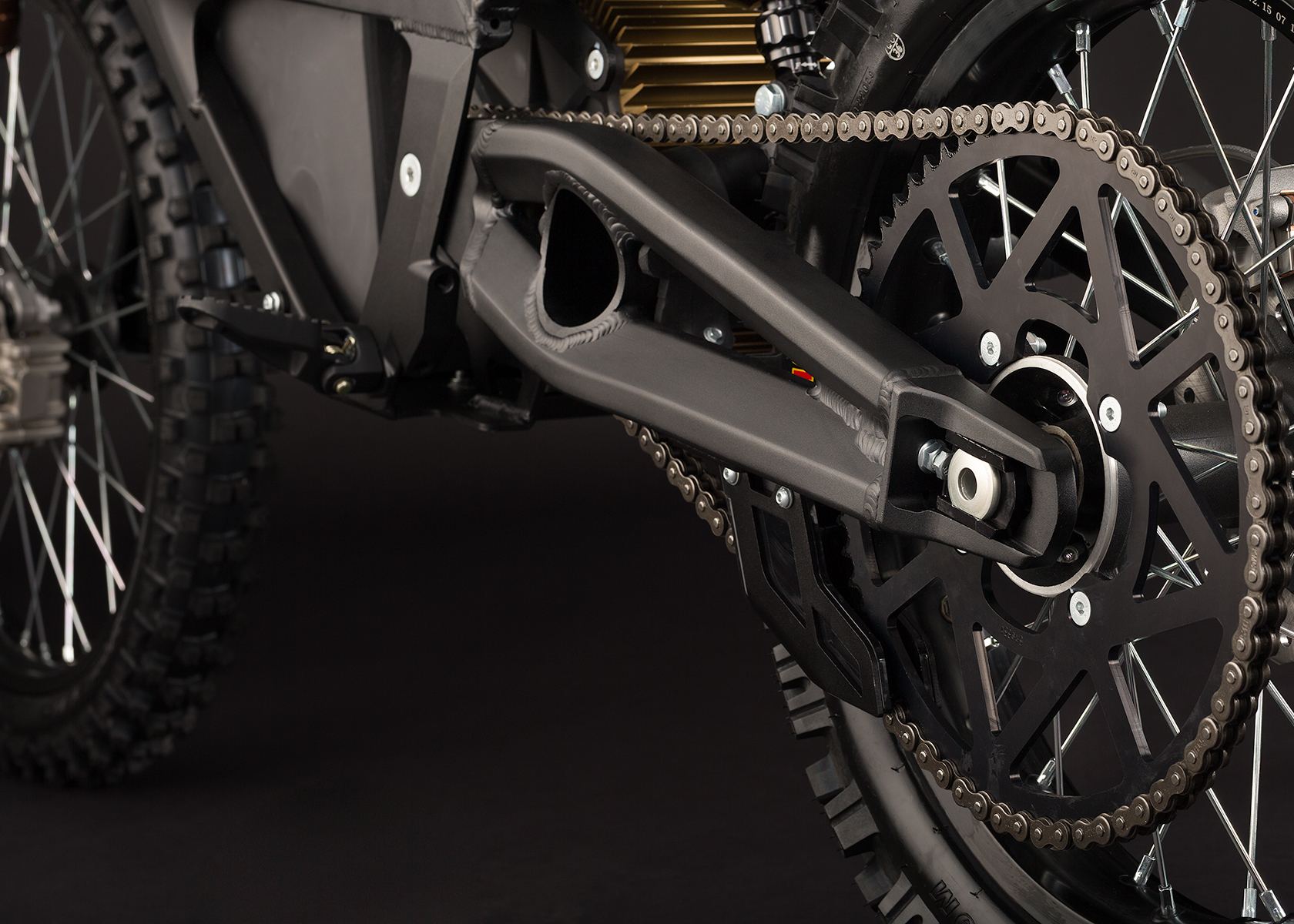 '.2013 Zero MX Electric Motorcycle: Drivetrain / Chain / Sprocket.'