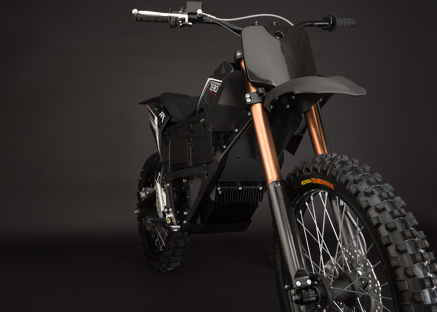 '.2013 Zero MX Electric Motorcycle: Front Fork.'