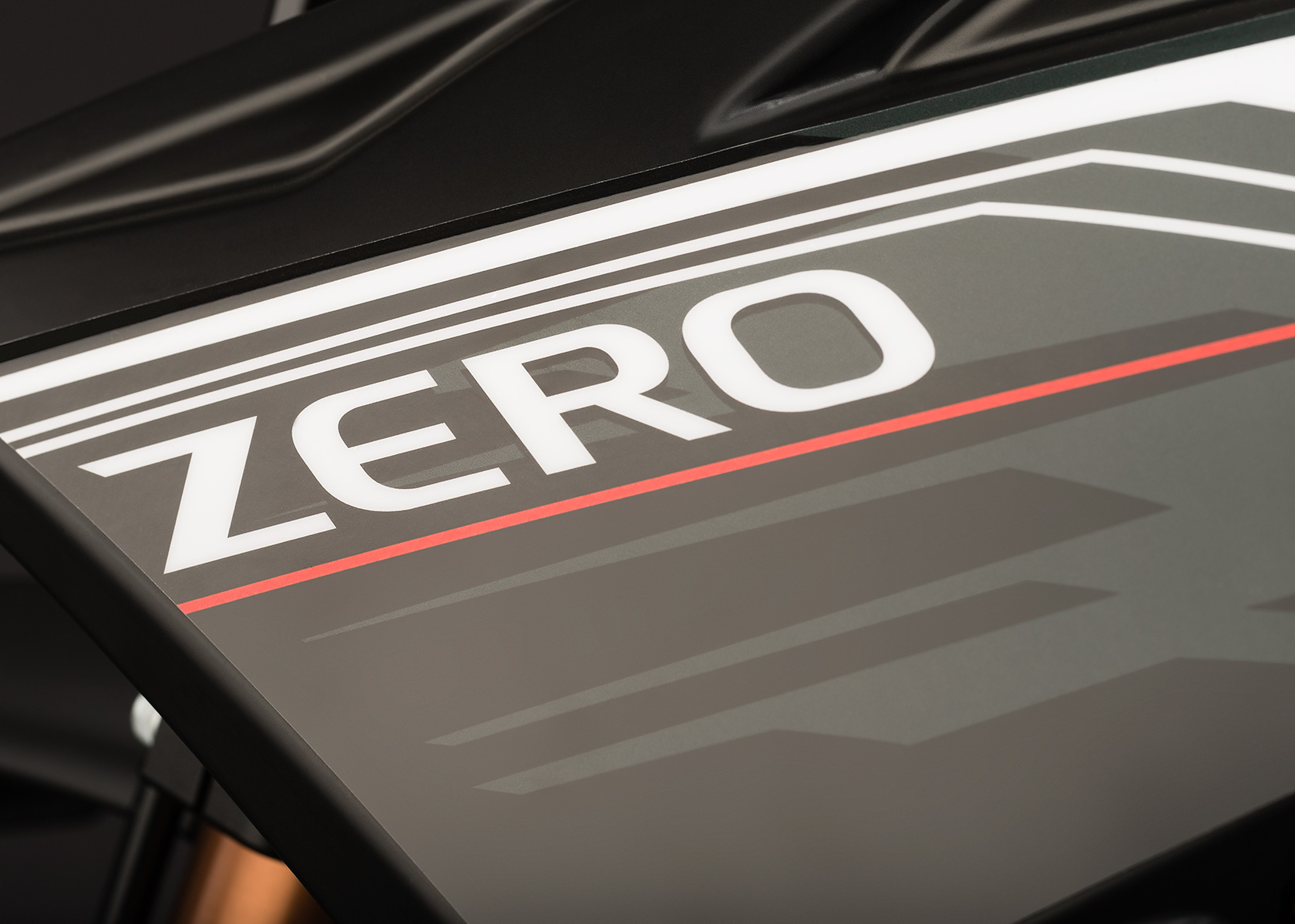 '.2013 Zero MX Electric Motorcycle: Graphic.'