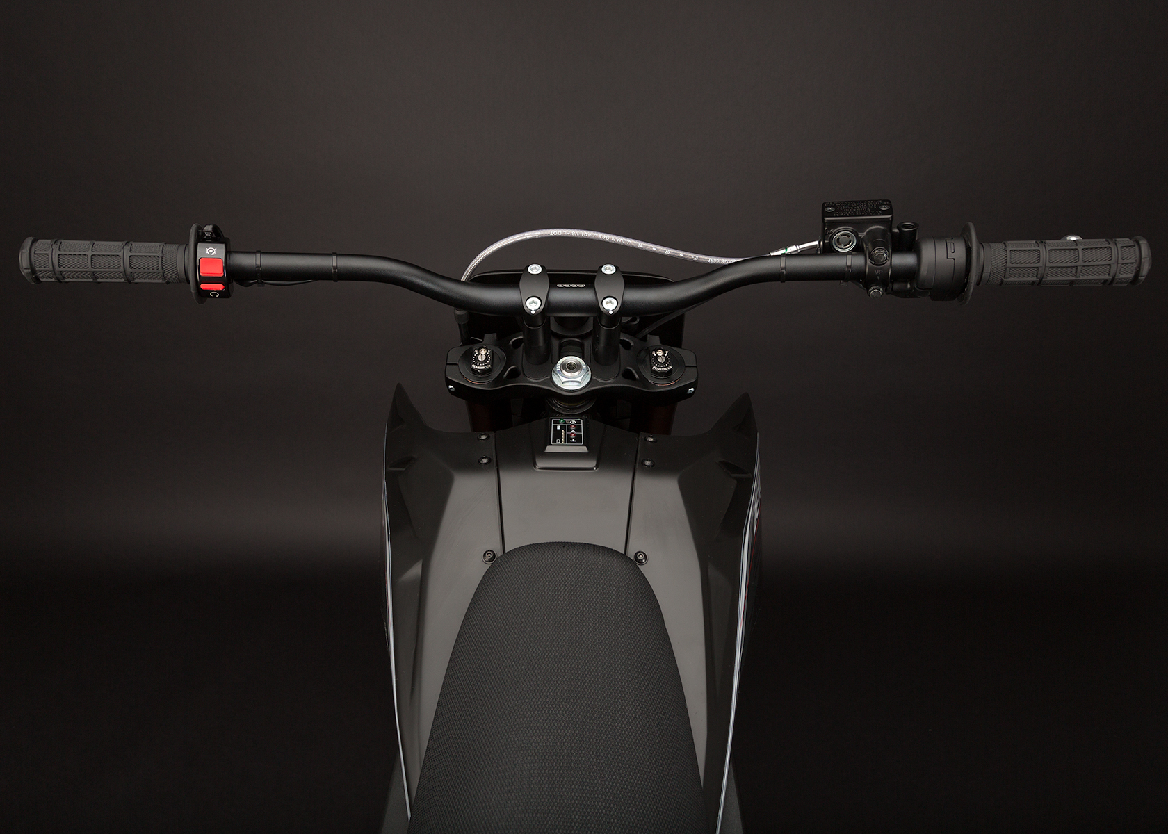 '.2013 Zero MX Electric Motorcycle: Rider View.'