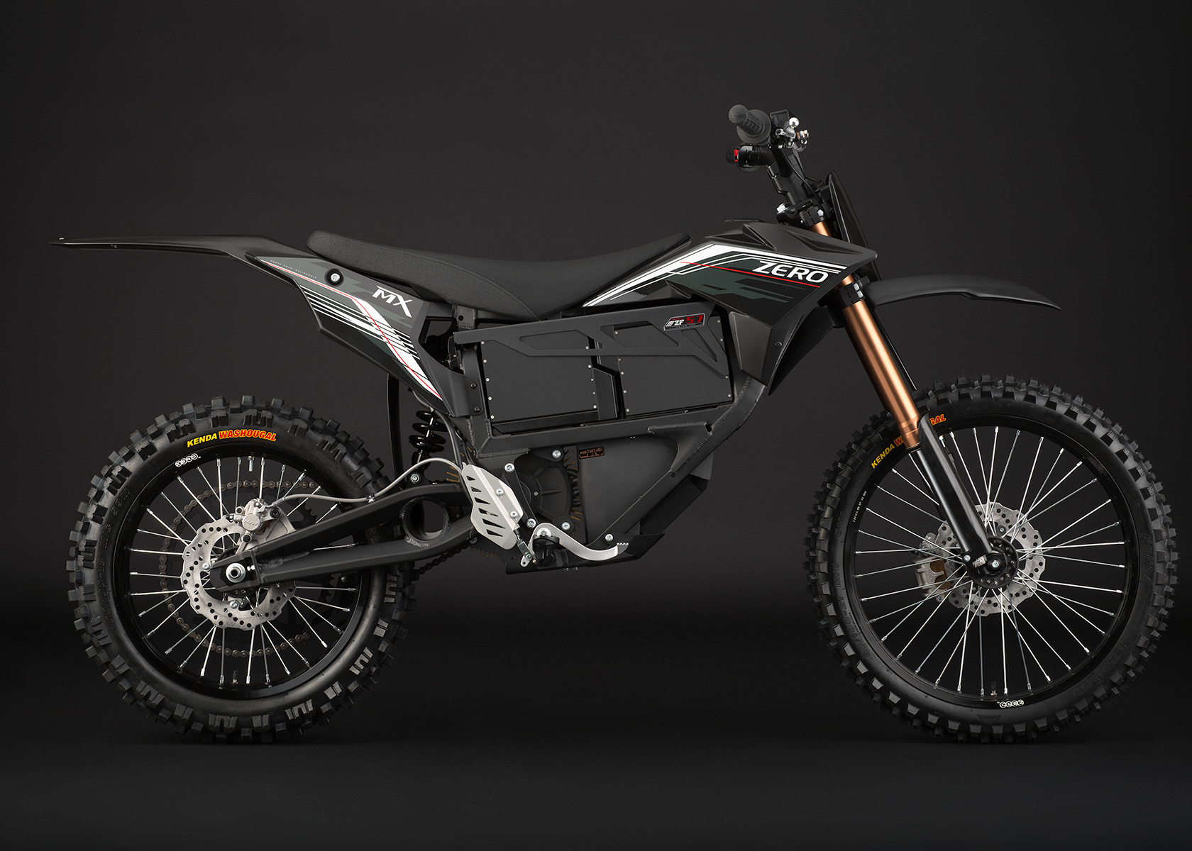 2013 Zero MX Electric Motorcycle: Black Profile Right