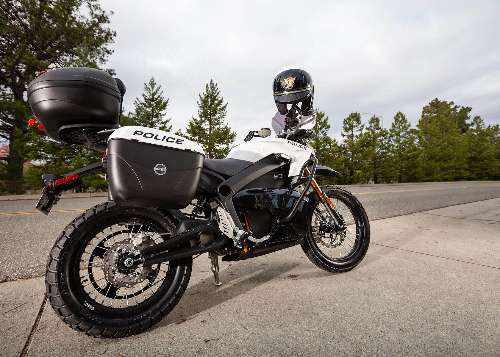 2013 Zero Police Electric Motorcycle: